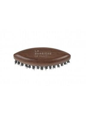 Petite Brosse plate à barbe  en poil de sanglier